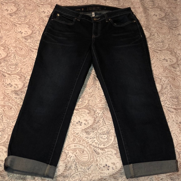 Jennifer Lopez Denim - Jennifer Lopez Dark Denim Capris SZ 8